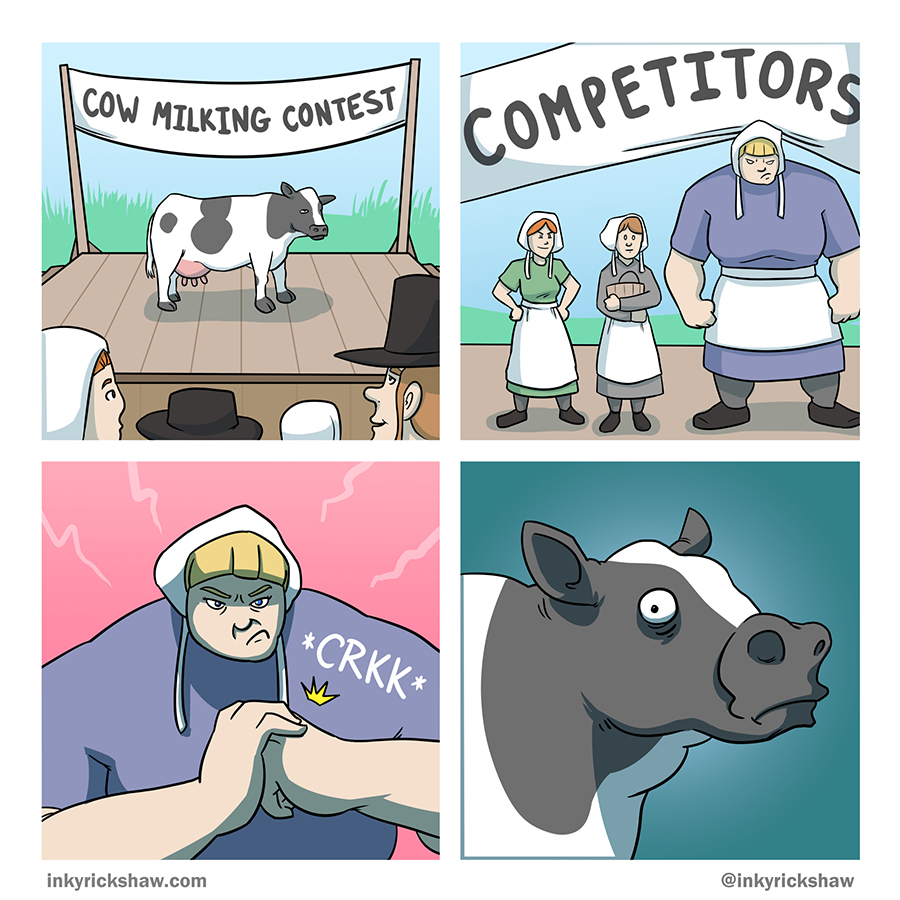 No cows were harmed in the making of this comic.