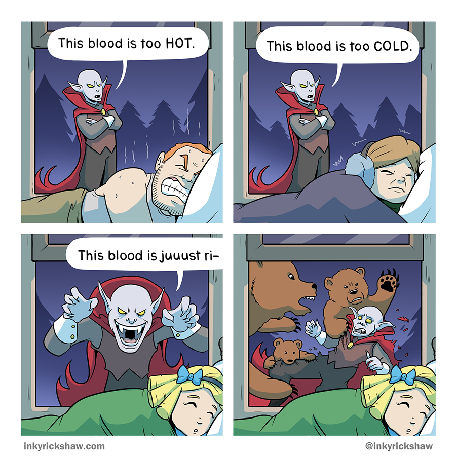 All fairy tales are improved with the addition of vampires.